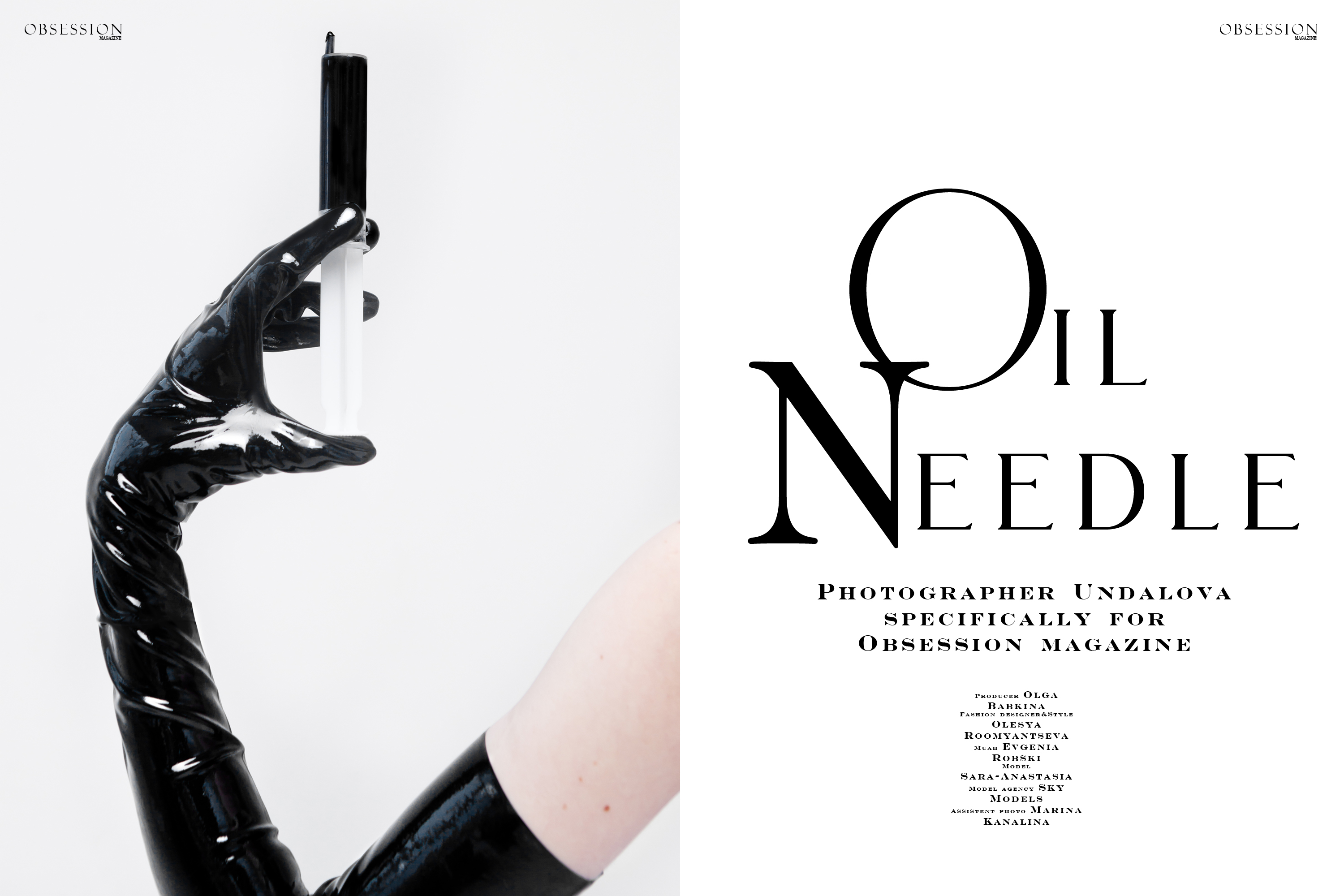 New Session «The Needle oil» for Obsession magazine